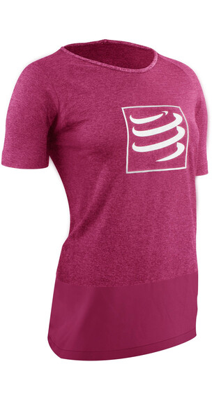 Compressport Training Løbe T-shirt Damer pink